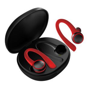 GDLYL Sport Wireless cuffia auricolare Bluetooth gancio dell'orecchio con il microfono Esecuzione impermeabile cancellazione del rumore auricolari stereo