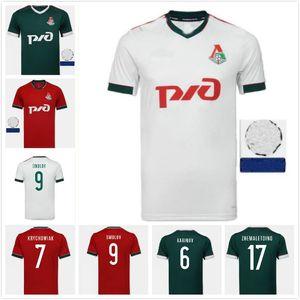 20/21 Lokomotiv Moscou Troisième Jersey de football 2020 Accueil N ° 6 Barinov # 7 Krychowiak # 9 Smolov # 17 Zhemaletdinov Chemise de football Uniformes
