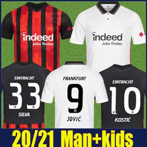 Eintracht Frankfurt Fussball Jersey 2020 2021 Die Adler Sau Silva Kostic Jovic Football Jersey Kids Kit Hasebe Kamada Hinteregger Soccer Hemd