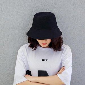 Harajuku Fisherman Hat Woman Spring Summer Sunshade Hat Man Candy Color Flat Top Bucket Hats Head Outdoor Bucket Caps Cotton New