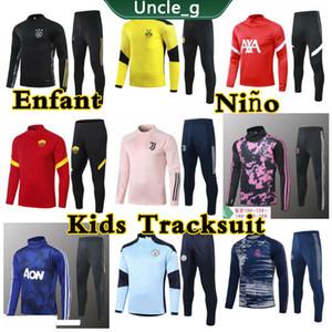 Новый дизайн Дети набор Tracksuit 2020 2021 Enfant Обучение футбола для детей одежды Футбола Велюра Днище Tech Флис Boy Девушка высокого качество тайской