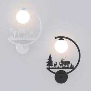 Nordic Wohnzimmer Schlafzimmer Wandleuchte Study Room Nacht Helle Modern Minimalist LED Wandleuchte Creative Art Kind-Raum-Aisle LED-Beleuchtung