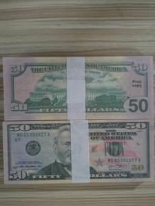 2021 Hot falsificada 20 dólares Falso dinero Billetes de banco Prop Money Papel Toy Billete Barra Atmósfera Etapa de cumpleaños Película Película Props