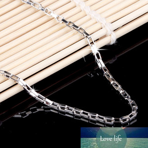 100% 925 Sterling Silver Fashion Men`s Chain Ladies`necklaces Jewelry No Fade Birthday Gift Drop Shipping