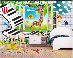 Custom photo wallpaper 3d mural wallpapers for living room Cartoon forest musical note music children room background wall papers home decor