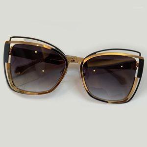Sunglasses Women 2021 Luxury Designer Fashion Cat Eye Sun Glasses Female Male UV4001