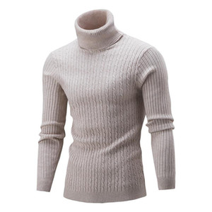 Men 's Knitwear Autumn Winter New Turtleneck Solid Color Bottoming Shirt Sweater Keep Warm All Match Sweaters High Collar Tops