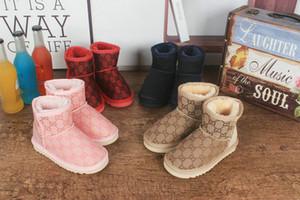 botas para la nieve botas de los niños de los nuevos niños del clásico de invierno invierno de los niños chicos, chicas, niños botas de nieve caliente