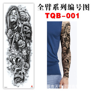Factory direct full arm tattoo stickers arm eco-friendly waterproof European and American popular tattoo