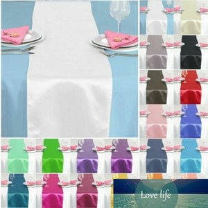 "Solid color 12"" x 108"" satin table runner wedding party decoration 30 x 275cm AU details"