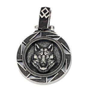 Norse Vikings Wolf Pendant Necklace Nordic Amulet Bear Eagle Slavic Symbol Original Animal Jewelry Christmas Gift Men Women