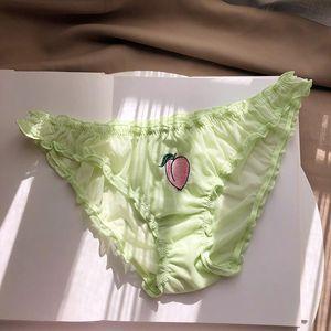 Ropa interior BIIGGXX fruta nueva ropa interior atractiva del triángulo de las bragas del cordón de las señoras