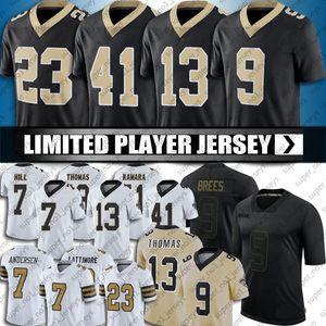 9 Drew Brees 7 Taysom Hill Jersey 13 Michael Thomas 41 Alvin Kamara Jerseys New Orleanses Marshon Lattimore Cameron Football Jersey