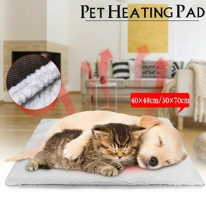 Dog camas Auto aquecimento Pet Bed Cushion Pad Cat Dog gaiola Kennel Crate suave Passe-partout Cozy ehhb #