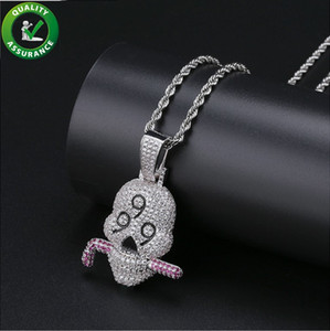 Hip Hop Jewelry Bling Chains Men Iced Out Pendant Designer Necklace Luxury Diamond Rapper Necklaces Cuban Link Pandora Style Charms Wedding