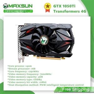 Maxsun GTX1050TI 4G Graphics Card Nvidia GDDR5 128bit GPU Video Gaming Video Card For PC Computer HDMI DP DVI