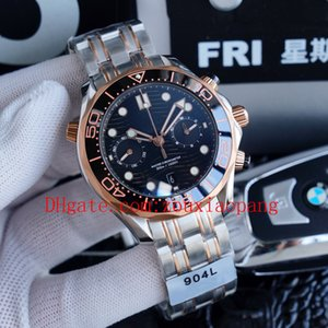 2020 high quality sea ceramic bezel aqua timing watches boss terra man 007 chronograph sport wristwatches james bond master mens watch D3031