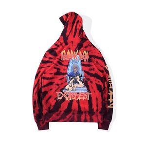 2020 Ins Heiß Unisex Hip Hop Stars Trippie REDD 1400 Aufregung Krawatte Dye Hoodie Skateboard Mit Kapuze Sweatshirt Männer Frauen Hoodie