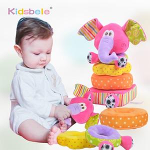 Для новорожденных детей образовательные мягкие плюшевые мобильные погремушки Kidsbele слон укладка детских игрушек Handbell Y200111
