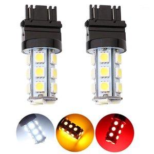 Autoscheinwerfer 2x 3157 3156 T25 T-25 Chips 18 SMD LED Birne Lampe Licht Sailse Backup Umdrehungssignal Rückwärtskopf Weiß 12V1