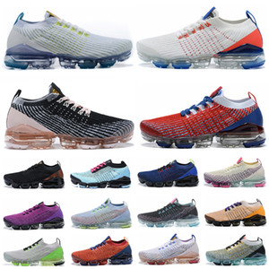 TN Além disso Fly 3.0 Sneakers Knit 3.0 Homens Mulheres Running Shoes Triplo Preto Branco Seja Shoe verdadeira malha do arco-íris Sports Outdoor