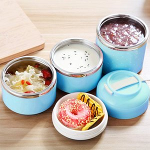 Japanese Lunch Box Stainless Steel Leakproof Outdoor Bento Food Container Cute Picnic Kitchen Supplies for Workers School Kids