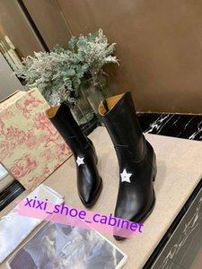 Dior boots Piste talon Bottes Automne Hiver Femmes Bottines Chaussures Flats véritable Slip Femme en cuir court Martin Bottes design piste pour dames bottillons