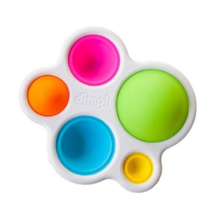Simple Dimple Fidget Popper Toys, Pop It Fidget Push Pop Silicone Sensory Toys, Infant Early Education Attention Learning Toys gift