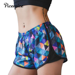 Picemice Sexy Camouflage Yoga Shorts Frauen Breathable Overlay Gym Sport Short Lauf Quick Dry Workout Trainings Bottom