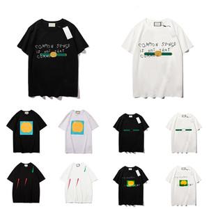 21ss para hombre de las mujeres del diseñador camisetas ocasionales camisetas Calle Pantalones cortos de la manga Luxe Marcas Hombre Ropa para Mujer Hombre Top Moda hombre s camisetas de calidad