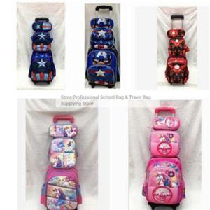 Bolsos para niños Set de ruedas Niños con ruedas Trolley School Rolling Mochila Bolsa para niña C1019