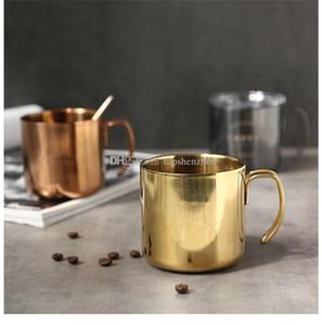 Tazza di vetro di vino da 14oz con manico Coperchio cristallino Coperchio trasparente 400ml Acciaio inossidabile Acciaio inox Doppi Aspiratori isolati Tazze da tè per caffè