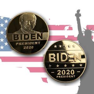 2020 Президент Байден памятная монета BiDen Позолоченная памятная монета Металл Значок Металлическая Комминочная Монета Оптом