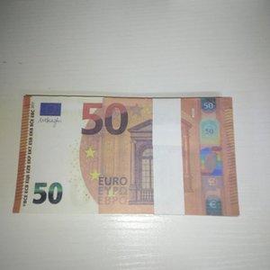 PROP 50 PARTIE PROP BANKOOTE DE BANDÉE MV Euro Stage Bar VLRKB Copie Atmosphère Le50-33 Tir à la contrefaçon Chaud Contrefaite RWLQV