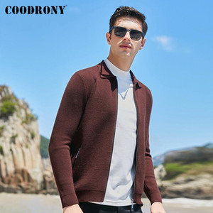 COODRONY Brand Fashion Streetwear Zipper Pocket Sweater Coat Autumn Winter New Arrival Casual Thick Warm Wool Cardigan Men Y1197