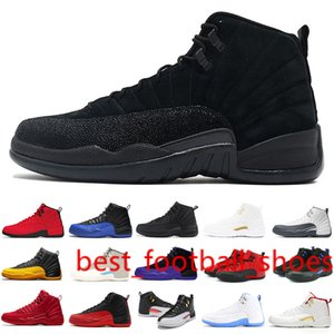 Men 12s Reverse Flu Game Dark Concord Stone Blue University Gold Mens Basketball Shoes 12s Playoff French Blue Sneakers 7-13