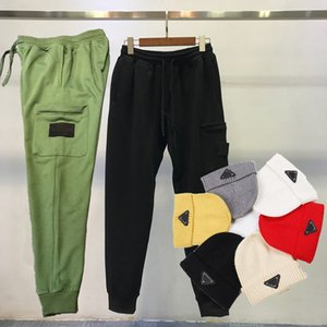 18SS Styliste Cargo Pant pour hommes femmes piste pantalons de course Cap taille élastique Casual Joggers Crayon Pantalons Homme Vêtements plat Chapeau