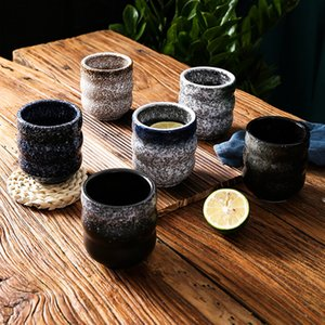 Vintage Coarse Pottery Water Mug Ceramic Tea cup Retro Coffee Milk Tea Cup Porcelain Tea Bowl Master Cup Teaware Drinkware
