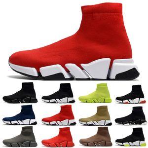 Trasporto di goccia velocità calzino mens 2,0 scarpe casual allenatore Jogging beige bianco nero rosso giallo fluo uomini grigi all'aperto donne le scarpe da tennis di sport