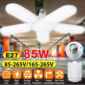 Super Bright Industrial Lighting 85W E27 LED Fan Garage Light 20000LM 85-265V 2835 LED High Bay Industrial Lamp For Workshop