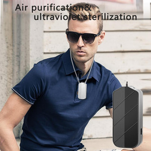 Mini Wearable Air Purifier Sterilizer Neck Hanging Smoke Eliminator USB Charging Bedroom Travel Air Cleaner for Dust Pets Smell