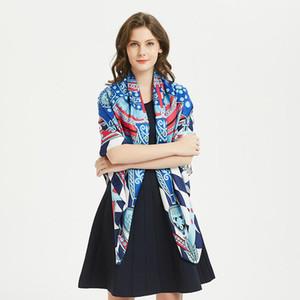 LESIDA Мода Большой площади Шарф 130см Женский платок волна шаблон Женщины головной убор шарфы женские Wrap