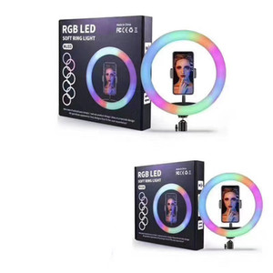 20 cm 26cm 33cm LED RGB RGB Luz desktop Video Makeup Makeup Preencher Light Selfie Ring Lamp Com Clipe de Telefone Móvel