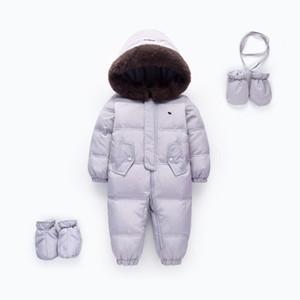 OrangeMom Store Official Baby Winter Romper Duck Down Down Snowsuit infantil Jumpsuit Niños Outerwear Outer Monos para niñas J1221