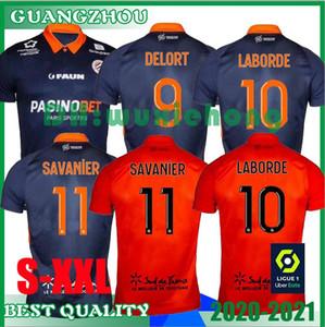 2020 2021 مونبلييه HSC لكرة القدم الفانيلة New Laborde Delort Mailleot De Foot Savanier Mavididi Mollet Congre الرجال كرة القدم قمصان