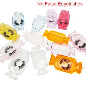 Candy Design Wholesale False Eyelash Packaging Box Bulk Custom Logo Candy Shape Empty Acrylic Lash Package Case