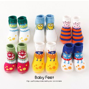 Toddler Indoor Sock Shoes Newborn Baby Socks Winter Thick Terry Cotton Baby Girl Sock With Rubber Soles monster Planet Sock Y201001