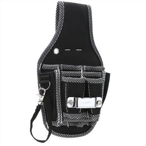 Black Solid Waist Pocket Electricians Tools Belt Pouch Bag Portable Nylon Screwdriver Kit Holder Tool Bag New Style