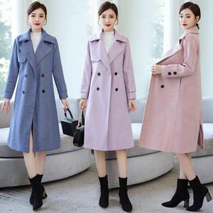 Women Wool Double Breasted Coat Elegant Long Sleeve Work Office Fashion Jacket Office Lady Blazer Fashion Work Blazers Feminino