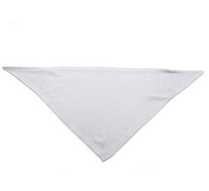 10pcs Bandanas Sublimation Blank White DIY Polyester Pet Dog Triangle Neck Scarf heat transfer Printing